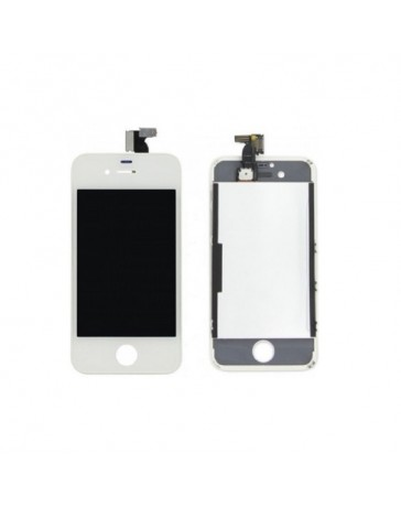 LCD DISPLAY + TOUCH SCREEN VETRO IPHONE 4 BIANCO