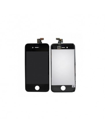 LCD DISPLAY + TOUCH SCREEN VETRO IPHONE 4 NERO