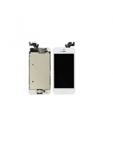 LCD DISPLAY + TOUCH SCREEN VETRO IPHONE 5 BIANCO MIC